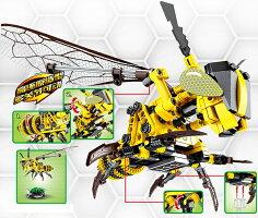 ブロック 蜂蜜 動物 ハチ ブロック互換品 プレゼント 入学プレゼント 入学お祝い クリスマスプレゼント 知育玩具 おもちゃブロックお祝いプレゼント
