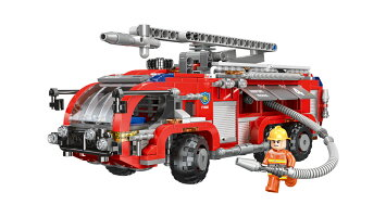 ブロック 消防車 はしご車 ブロック互換品 プレゼント 入学プレゼント 入学お祝い クリスマスプレゼント 知育玩具 おもちゃブロック