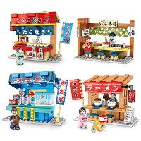 ブロック たこ焼き屋台他4個セット ブロック互換品 プレゼント 入学プレゼント 入学お祝い クリスマスプレゼント 知育玩具 おもちゃブロック