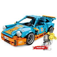 ブロック プルバックカー ポルシェ 911車 ブロック互換品 プレゼント 入学プレゼント 入学お祝い クリスマスプレゼント 知育玩具 おもちゃブロック
