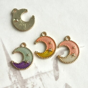 エポチャーム・2色カラー・星模様の三日月(全3色)
