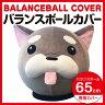 【限定プレゼント付き】バランスボールカバー  65cm シュナウザー SPL643