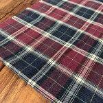 コットンギンガムチェック112cm幅50cmから購入可ブルーパープルグリーンピンク/ブルーオークルピンク播州織国産布地