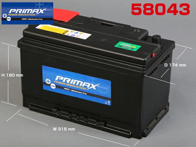 バッテリー, バッテリー本体 MF58043 996 Audi A4 2002- PRIMAX()