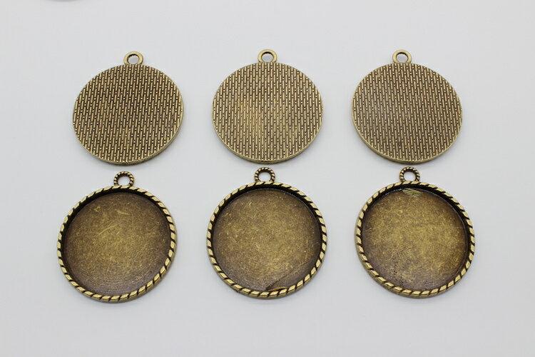 (メール便可)6枚セット 丸型大きめのミール皿 セッティング シルバー ゴールド アンティーク  ハッピークラフト/HAPPYCRAFT