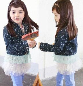 890b4135fbf1f  数量限定・値引き デニムジャケット 子供服 デニム ジャケット 女の子 デニム ジャケットジュニア