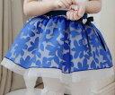 子供 スカート 女の子 花柄 スカート 花柄プリントのスカート シフォン チュール スカート