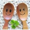 ニコニコorウインクスプーン木製スプーン木のスプーンベビー子供スプーン木製食器happyfountain