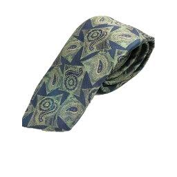 【ポイント20倍】西陣手縫い仕立て ほぐし染め シルク100%ネクタイ ブルー&グリーン