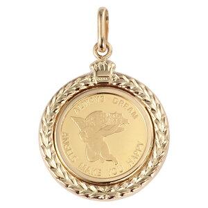 Pure Gold K24 Angel 1 / 25oz Goldmünze Anhänger Top Coin Design Frame Neu Kostenloser Versand Herren Damen Geschenk Geschenk Geschenk Geburtstag Beliebte Modische Süße Coole Accessoires Halskette Halskette Kopf Charm
