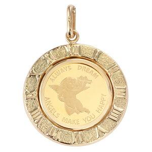 純金 K24 エンジェル 1/25oz 金貨 ペンダントトップ コイン アラベスク ゴールド 時計文字 デザイン枠 新品 送料無料 メンズ レディース プレゼント ギフト 贈り物 誕生日 人気 おしゃれ かわいい かっこいい アクセサリー 首飾り ネックレス ヘッド チャーム