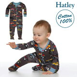 Hatleyハットレイベビー服カバーオール足つきトラック出産祝いプレゼントギフト