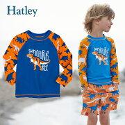 Hatleyハットレイラッシュガードキッズ男の子長袖水着恐竜