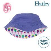 【楽天スーパーセール】Hatleyハットレイキッズ帽子アイスクリームリバーシブルSPF50UVカットセレブ愛用ブランドプレゼントギフト洗濯OK女の子ハット