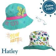 Hatleyハットレイキッズ帽子ちょうちょリバーシブルSPF50UVカットセレブ愛用ブランドプレゼントギフト洗濯OK女の子