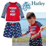 Hatleyハットレイラッシュガード上下セット水着ベビー男の子海パンサメ赤ちゃん75808590SPF50+日焼け防止UVカット