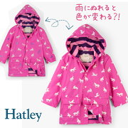 Hatleyハットレイレインコートキッズジャケットユニコーン女の子人気おすすめブランドセレブ愛用プレゼントギフト100濡れると色が変わる