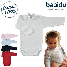 babiduバビドゥ肩開きハイネック長袖綿100%