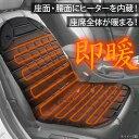 温度調整可能 シートヒーター 2人掛け 30秒速熱 ホットカーシート ヒーター内蔵シートカバー 運転席と助手席2枚セット シガー電源 DC12V ヒーター付カーシート 暖房 冬