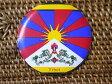チベット国旗柄のマグネットその1/エスニック/アジアン雑貨(DM便選択で送料84円)