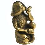 真鍮製の小さな置物 タイの福を招くお守り「招きチンコ」/タイのお守り/エスニック/アジアン雑貨(ポスト投函配送選択可能です)