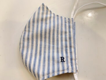【ゆうパケットOK】布マスク&マスクカバー刺繍入り 2way・日本製・・大人maskcover-199