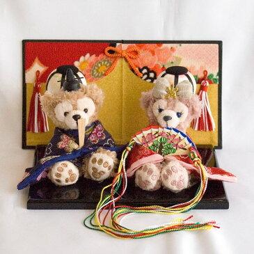 【送料無料】【雛人形】贈り物に♪ぼんぼり&屏風付き・ストラップサイズぬいぐるみ・お雛様ペア飾り【グッズ】*hina-bonbori-3(梅)