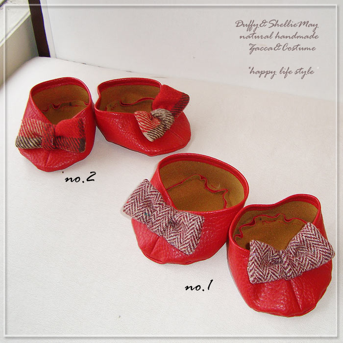 【ゆうパケットOK!】ダッフィー*シェリーメイSサイズ43cm用*新作!選べる赤いリボンシューズshoes19