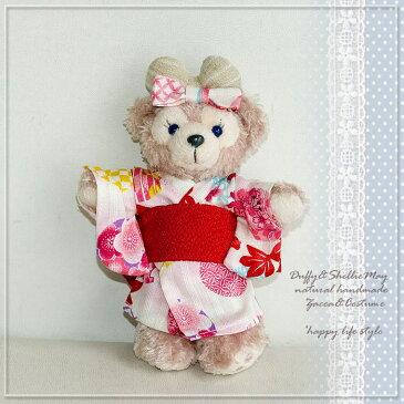 【ゆうパケットOK】*シェリーメイバッジサイズコスチューム★可愛い本格浴衣セット(金魚ピンク)・yukata-b-12
