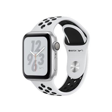 Apple(アップル)『Apple Watch Nike+ Series 4(GPSモデル)- 40mmシルバーアルミニウムケースとピュアプラチナム/ブラック Nikeスポーツバンド(MU6H2J/A)』