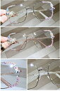 ブルーライトカット眼鏡 紫外線カット パソコン用メガネ メガネ pcメガネ おしゃれ ダイヤモンド キラキラ イベント パーティー 女性向け