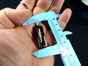 キーリングキーホルダー 弾丸レプリカ D ST-197 ピストルの弾 カニカン付き携帯ストラップおまけ あす楽 メール便OK