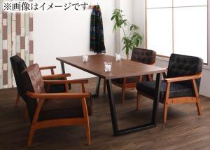 ダイニングテーブルセット 4人掛け おしゃれ ヴィンテージ ダイニングソファ 5点セット(テーブル幅150/1Pソファ4脚) ダイニングソファーセット