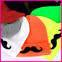【ニット帽、50%セール】【送料無料、メール便】ひげ ニット帽子、ニット帽子、ニット 帽子、ニット帽、ニット帽 レディース、ニット帽 ロゴ、ニット帽 ネオン、ニット帽 ヒゲモチーフ