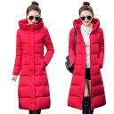 3XL 中綿ロングコート レディース ベンチコート 中綿ジャケット ビッグサイズ 大きいサイズ アウター ジャケット ロング丈 暖かい レディース モッズコート 軽い ロング レッド dd788s1c6kc /代引不可