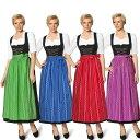 ミュンヘンのビール祭り服装 オクトーバーフェスト ドイツ風 ビール祭り 4color ワンピース ロ ...