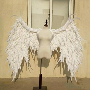 送料無料 コスプレ道具 天使 羽 140cm ホワイト 翼 天使の翼 天使の羽 エンジェル パーティーグッズ 撮影 cosplay用 コスプレ COSPLAY コスチューム ハロウィン クリスマス用 la126h2h2h2/代引不可