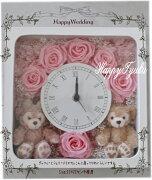ホワイト ディズニーシー ダッフィー シェリーメイ 掛け時計 プレゼント おすすめ プリザーブドフラワー ☆♪♪♪