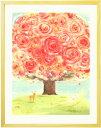 素敵な花の絵画 インテリア「いのちの樹」■LLサイズ・ポエム付■おしゃ...