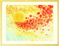 心が元気になる絵画 アート 「どきっ、わくわく、うきうき、きらきら」■Sサイズ・ポエム■ 部屋に飾る絵 インテリア 壁掛け 玄関 リビング トイレに飾る絵 ニッチ 壁飾り 額入り 花 飾り棚 北欧 小さい 額絵 メンタルヘルス 癒しグッズ 小物