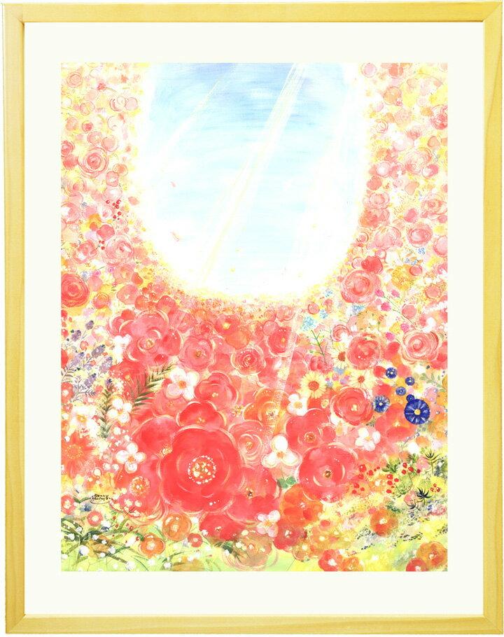 花 絵画 インテリア 「bloom」■Mサイズ■ おしゃれ 壁掛け 絵 風水 玄関に飾る絵画 額入り リビングに飾る絵 壁飾り 癒しグッズ 花の絵 幸せ 明るい絵 優しい 空 インテリアアート アートポスター 花 アートフレーム 癒しの絵 額付き かわいい絵 額絵 幸せ 優しい 店舗