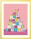 絵画 インテリア 欧風「ちいさな宝箱(ピンク)」■LLサイズ・ポエム付...