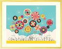 絵画 インテリア 「幸せのパレード」■Lサイズ・ポエム付■ リビングに...