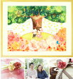結婚祝い 結婚記念日 絵画アート♪「Shine Tree」■名前入れ可・Lサイズ■娘へ結婚のお祝い 結婚式プレゼント サプライズ 両親から娘へ 入籍のお祝い 結婚10周年 結婚20周年 30周年 娘への結婚祝いのプレゼント お祝い 贈呈 贈答品 ギフト 額入り 金婚式プレゼント 贈り物