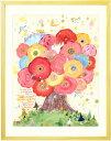 花 絵画 インテリア 「咲きつづく日々」■Mサイズ・ポエム■...