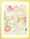 絵画 庭園 花 イングリッシュガーデン 「つなぐ」■Lサイズ...
