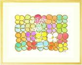 花の絵画 インテリア 壁掛け 「We are not same.」 ■Sサイズ・ポエム付■ 玄関 リビング 北欧 幸せ 楽しい カラフル かわいい ポップな絵 インテリア 壁飾り アート インテリア雑貨 【あす楽対応】