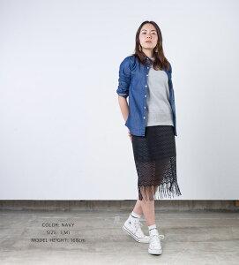 【ETFIL】エトフィルレーヨンデニムシャツレディースDENIM長袖カシュクールシャツトップス