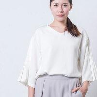 【UNFITfemme】袖プリーツプルオーバーシャツ全4色レディース