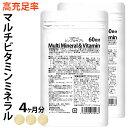マルチビタミン マルチミネラル 2ヶ月分×2袋 マルチビタミンミネラル サプリメント ビタミンA ビタミンB ビタミンC 葉酸 ビオチン ミネラル 鉄 亜鉛 カルシウム マグネシウム 銅 ヨウ素 酵母